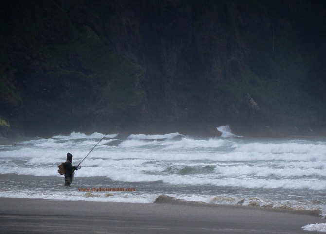 Fishing at Cape Lookout