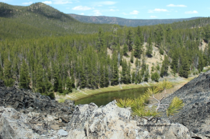 Lost Lake at Big Obsidian Flow