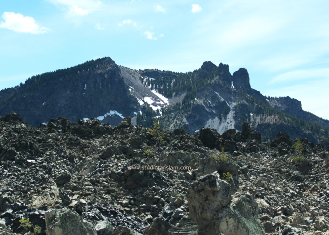 Paulina Peak from Big Obsidian Flow